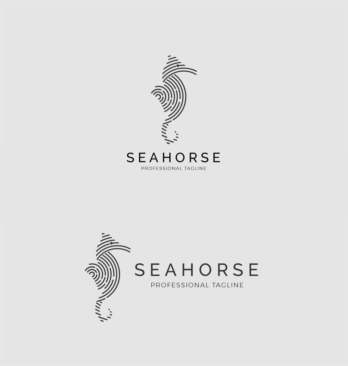 Animal Sea Logo - Seahorse Logo example image 3