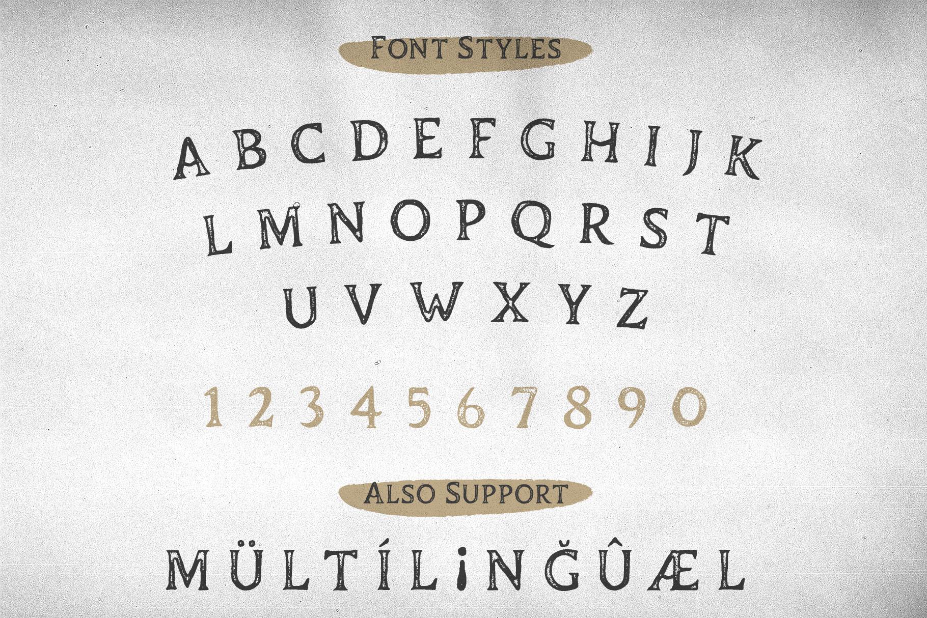 Duskey - Vintage Serif Font Bonus Extras example image 5
