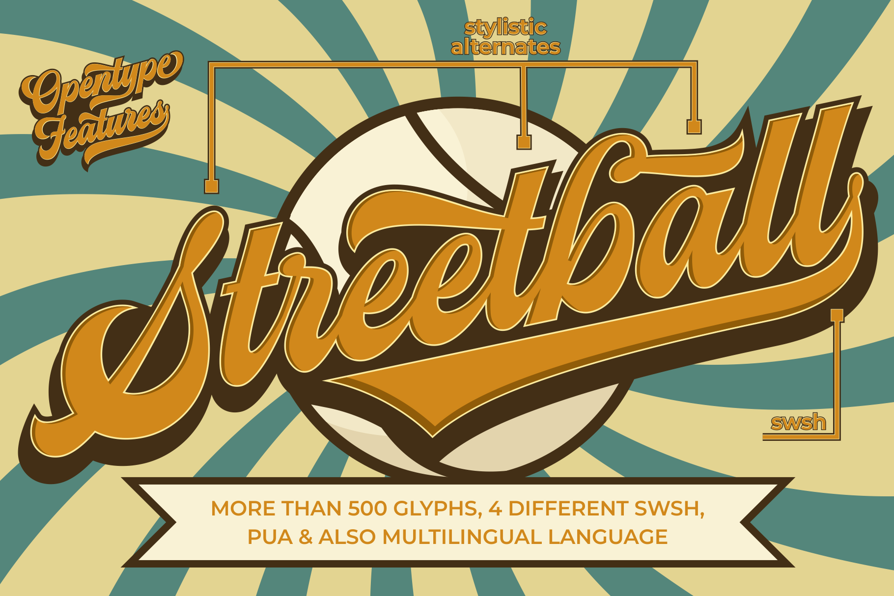Streetball | Vintage font example image 9