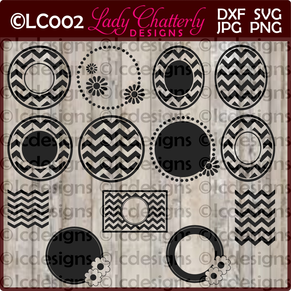 LC002 - Monogram Frames and Patterns example image 1