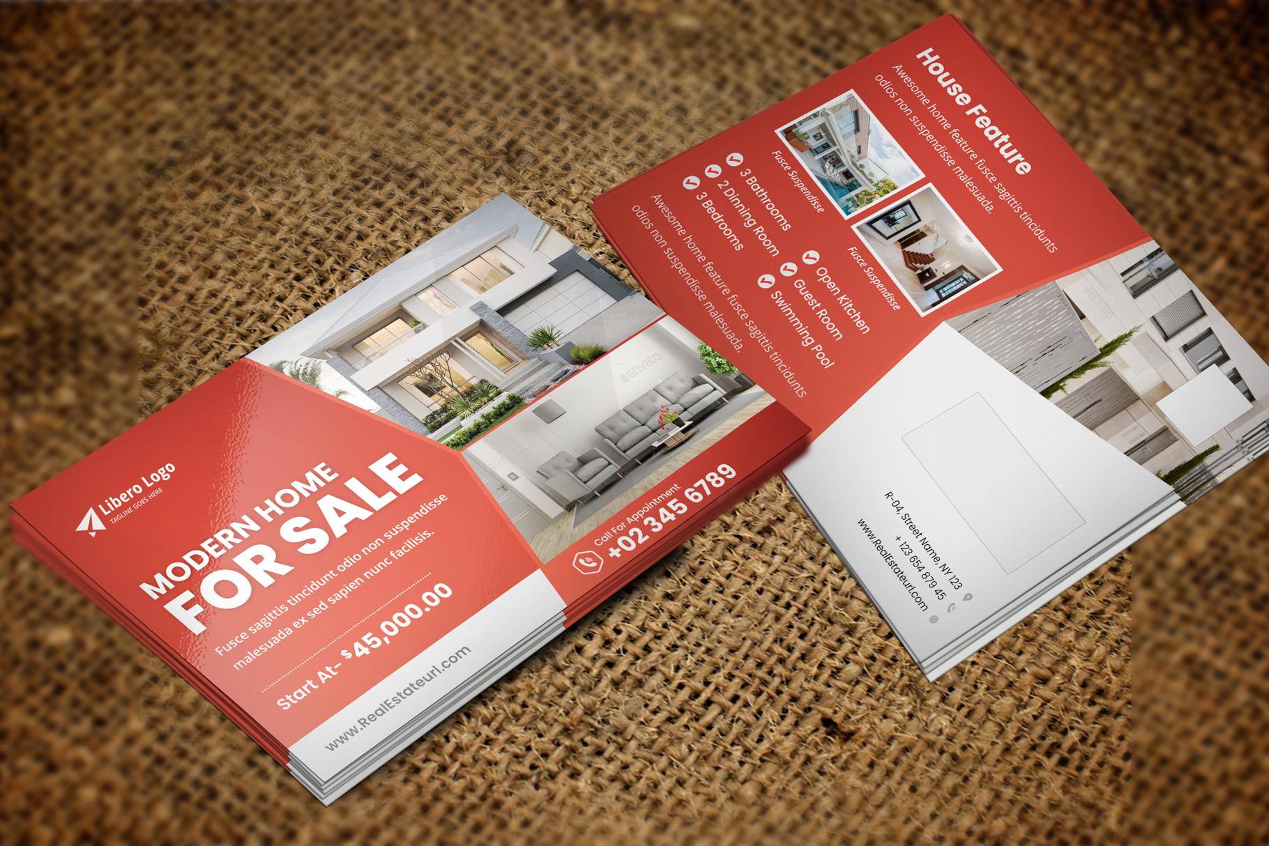 Real Estate Postcard Design v2 example image 5