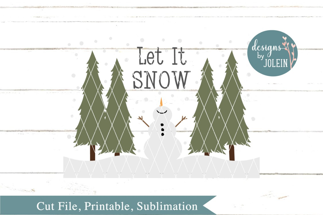 Let It Snow SVG, png, eps, sublimation, dxf, jpeg example image 2