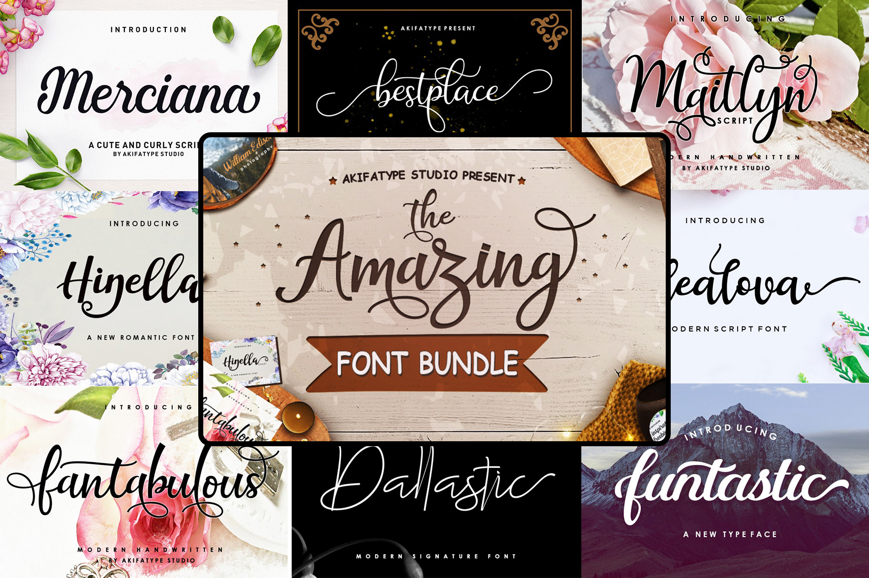 The Amazing Font Bundle - Vol I example image 1