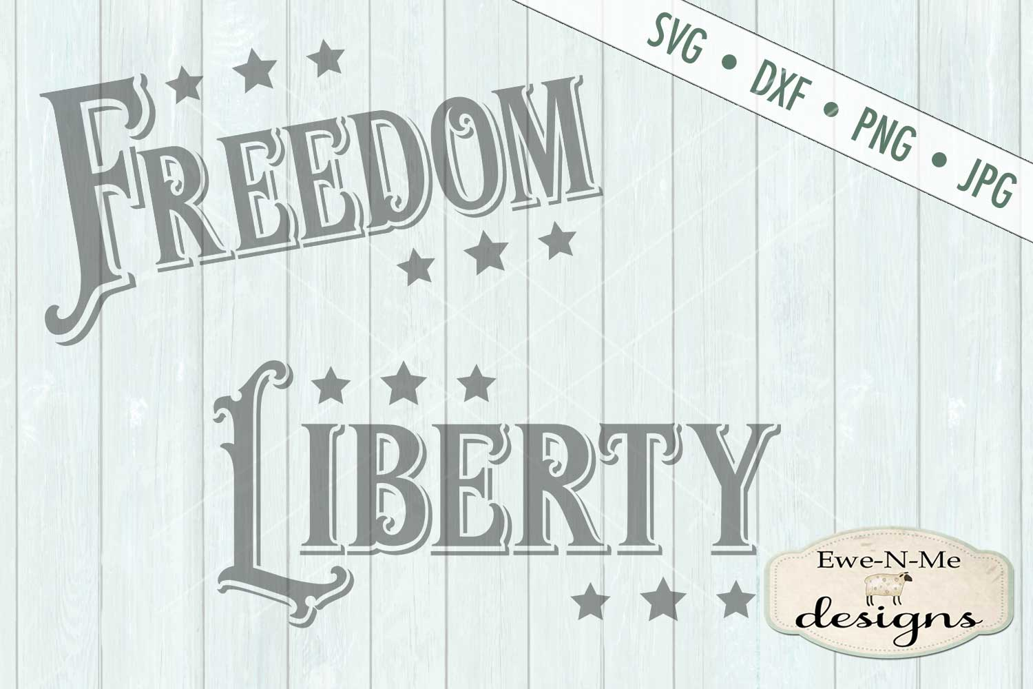Freedom Liberty - Patriotic - 4th of July - SVG DXF Files example image 2