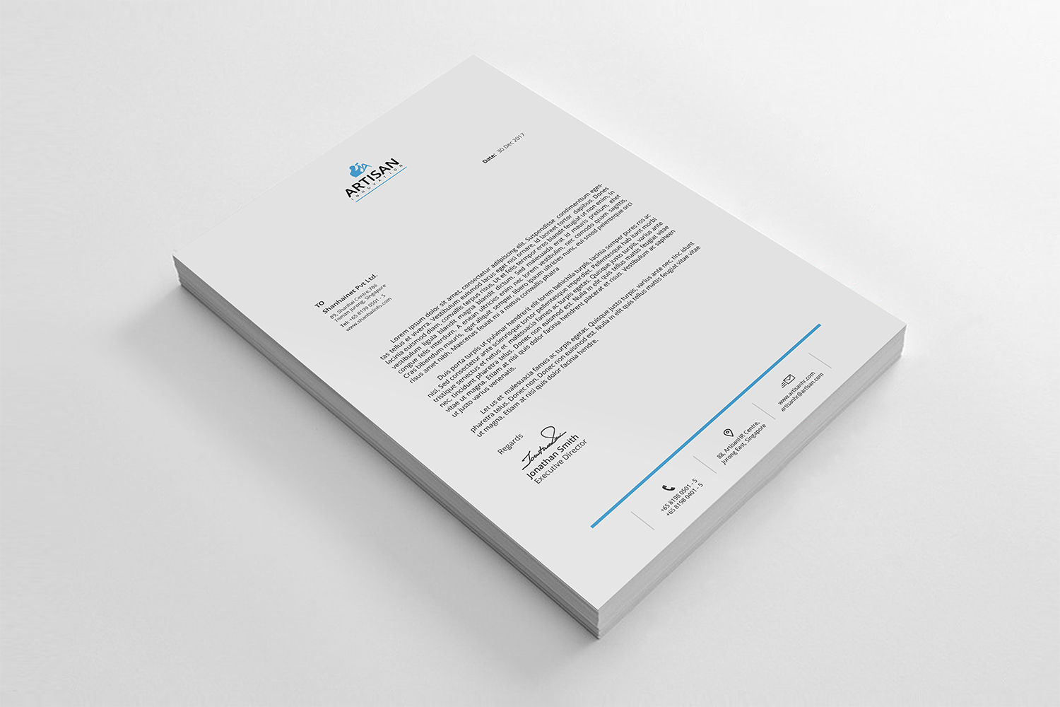 Simple Letterhead Bundle example image 2