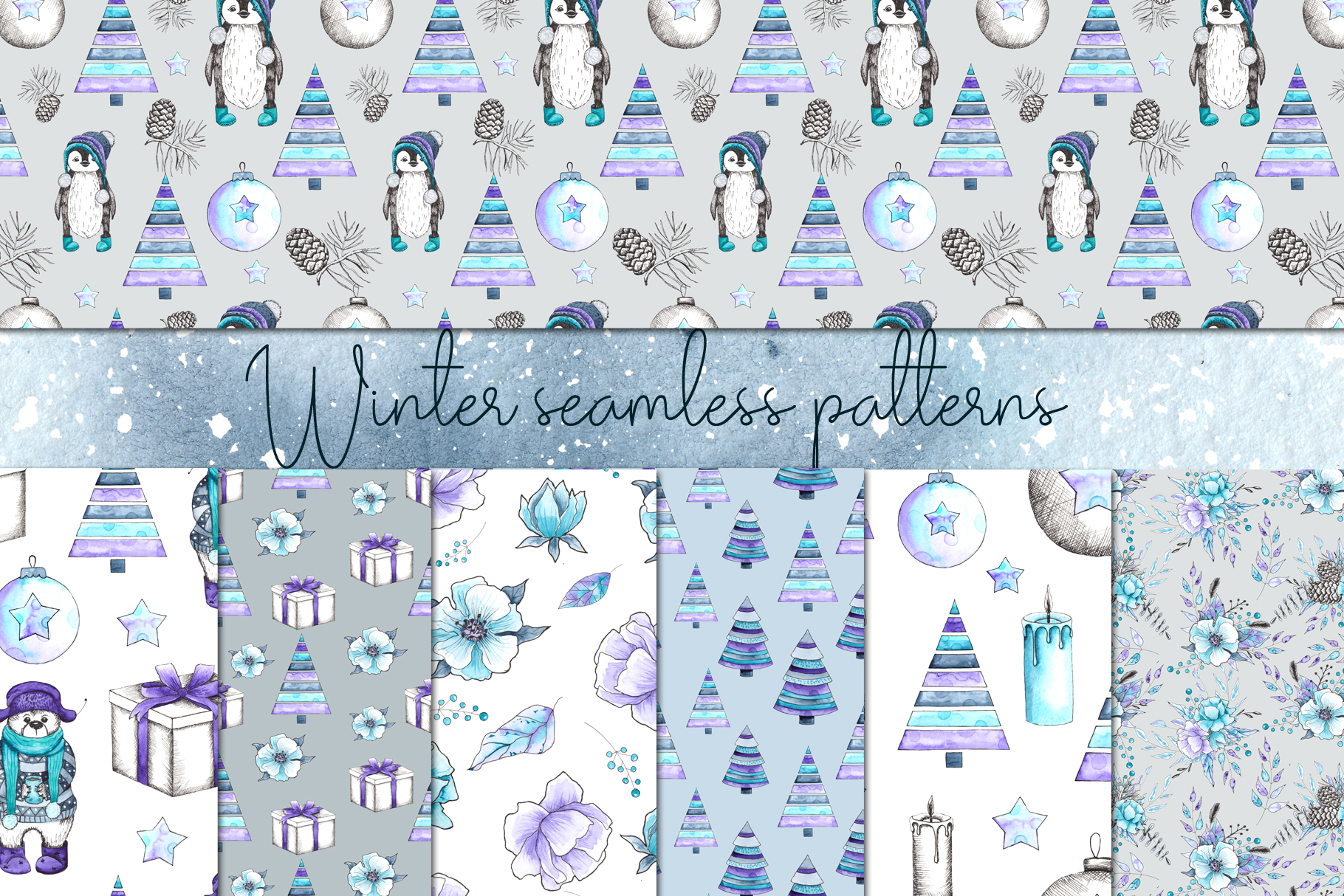 Let it snow. Winter collection example image 10