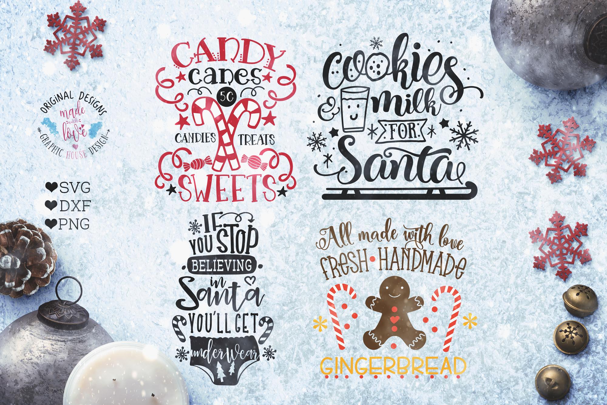 Christmas Bundle - Christmas Cut Files Bundle SVG, DXF, PNG example image 3