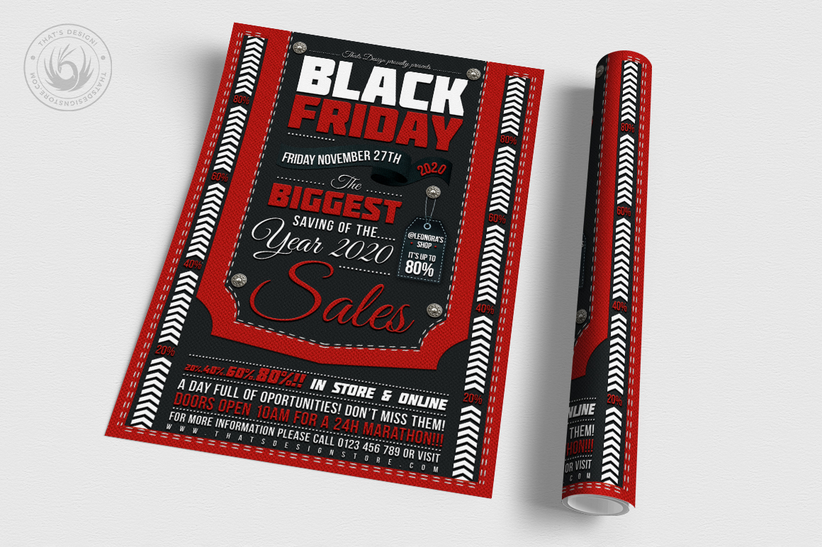 Black Friday Flyer Template example image 3
