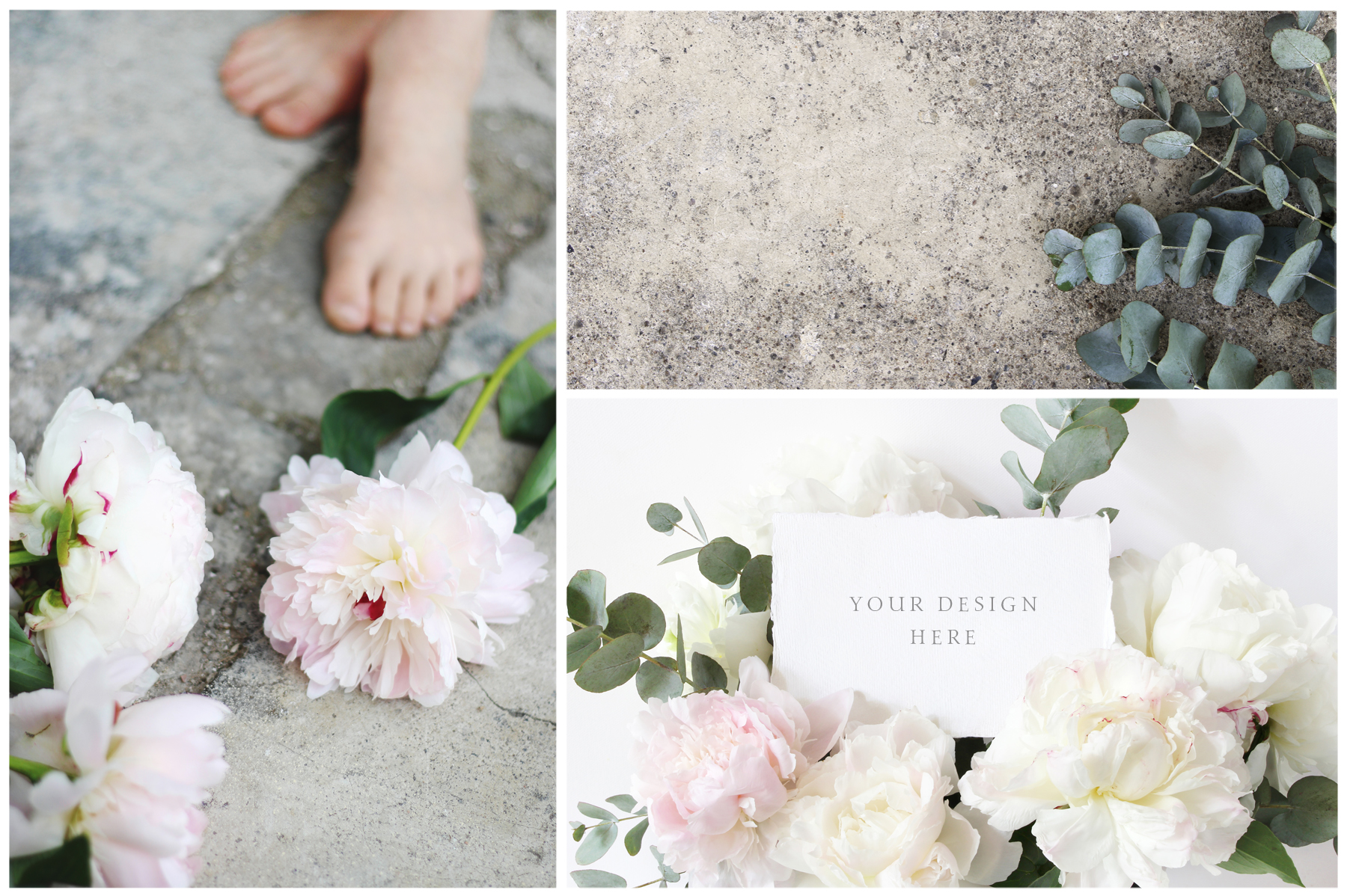 Vintage peony wedding mockups & stock photo bundle example image 7