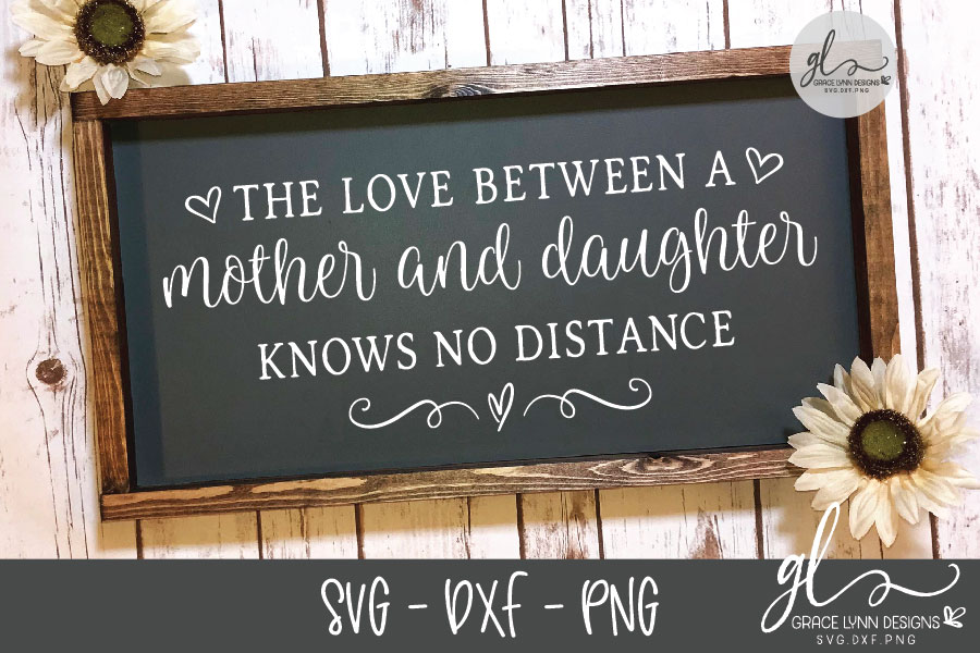 The Love Between A Mother And Daughter - SVG Cut File example image 2