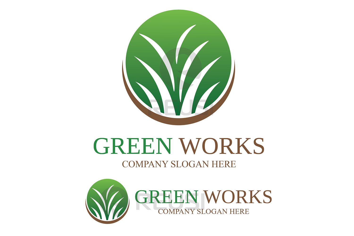 Greenworks Landscaping  Logo Template example image 2
