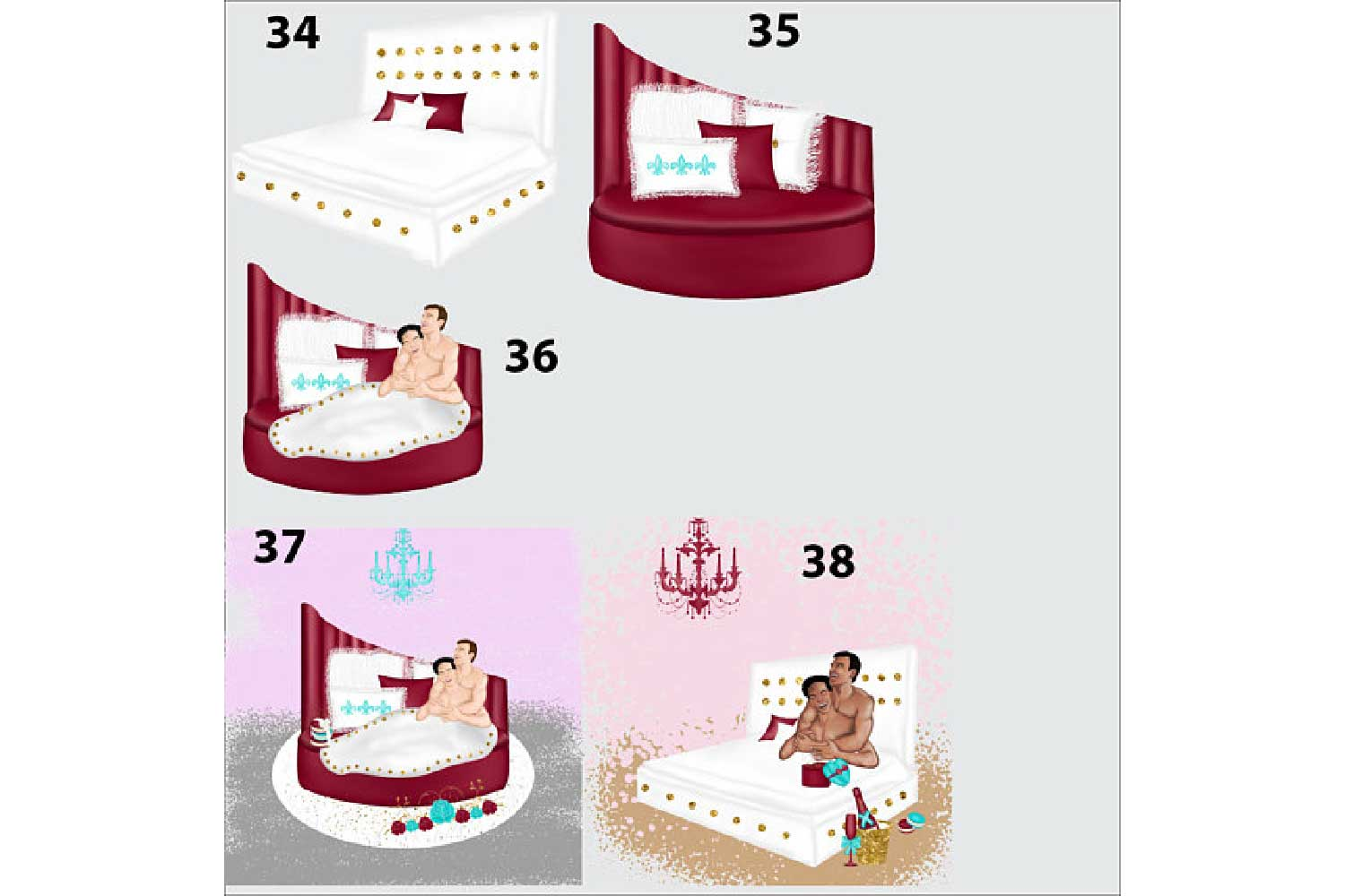 Gay Valentines Day clipart example image 6