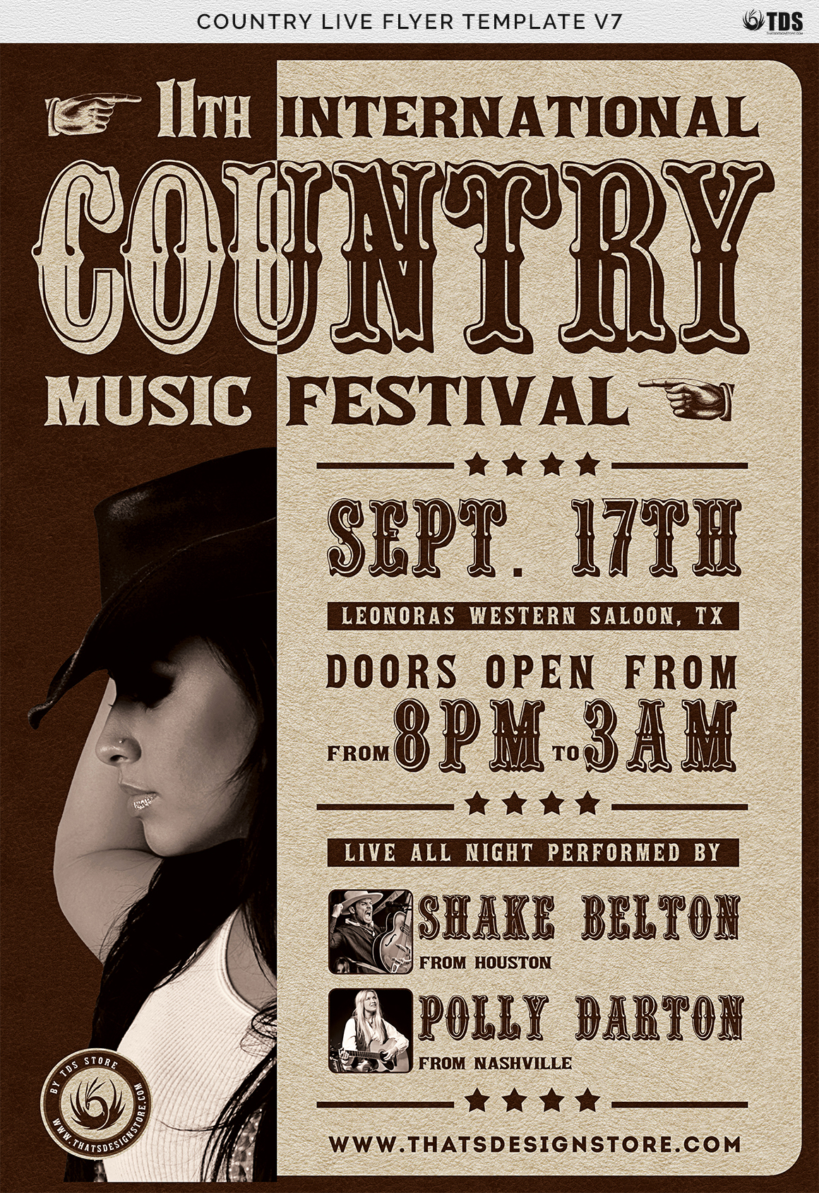 Country Live Flyer Template V7 example image 7