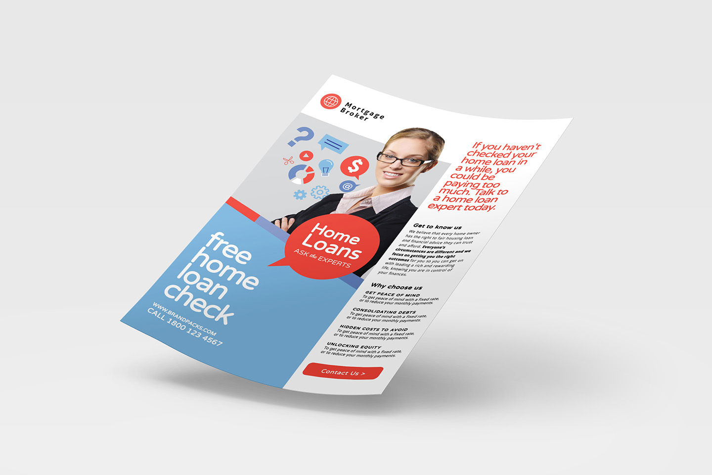 A4 Modern Corporate Advertisement Templates example image 2