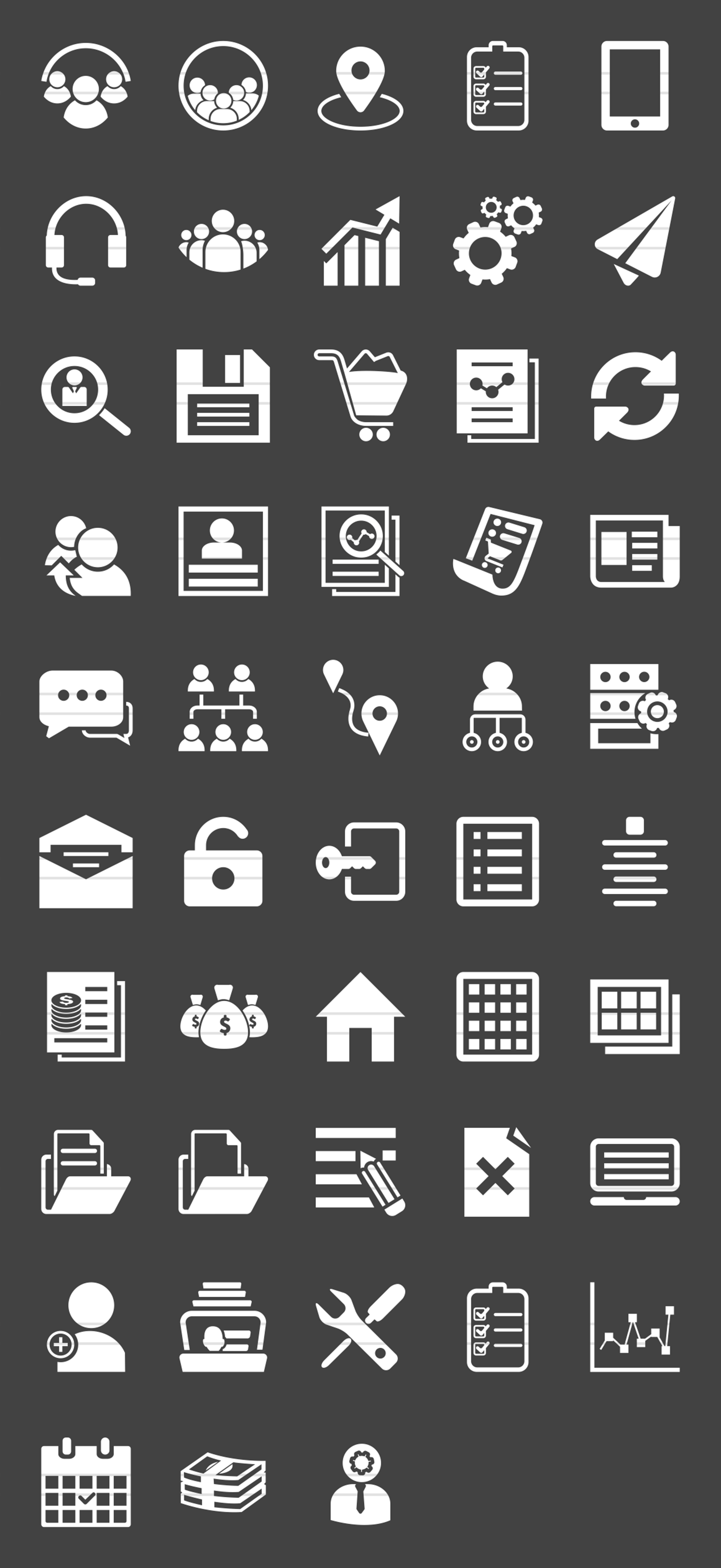 48 Admin Dashboard Glyph Inverted Icons example image 2
