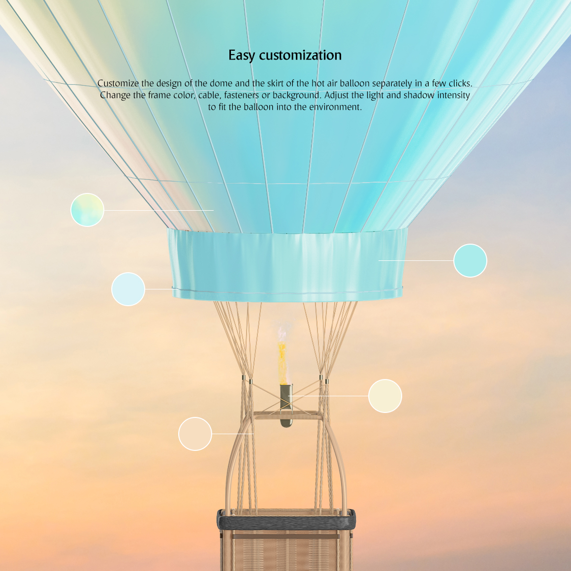 Hot Air Balloon Mockup example image 3