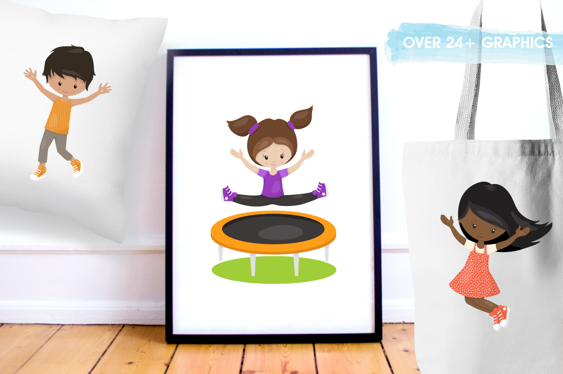 Jump trampoline graphic and illustration example image 5