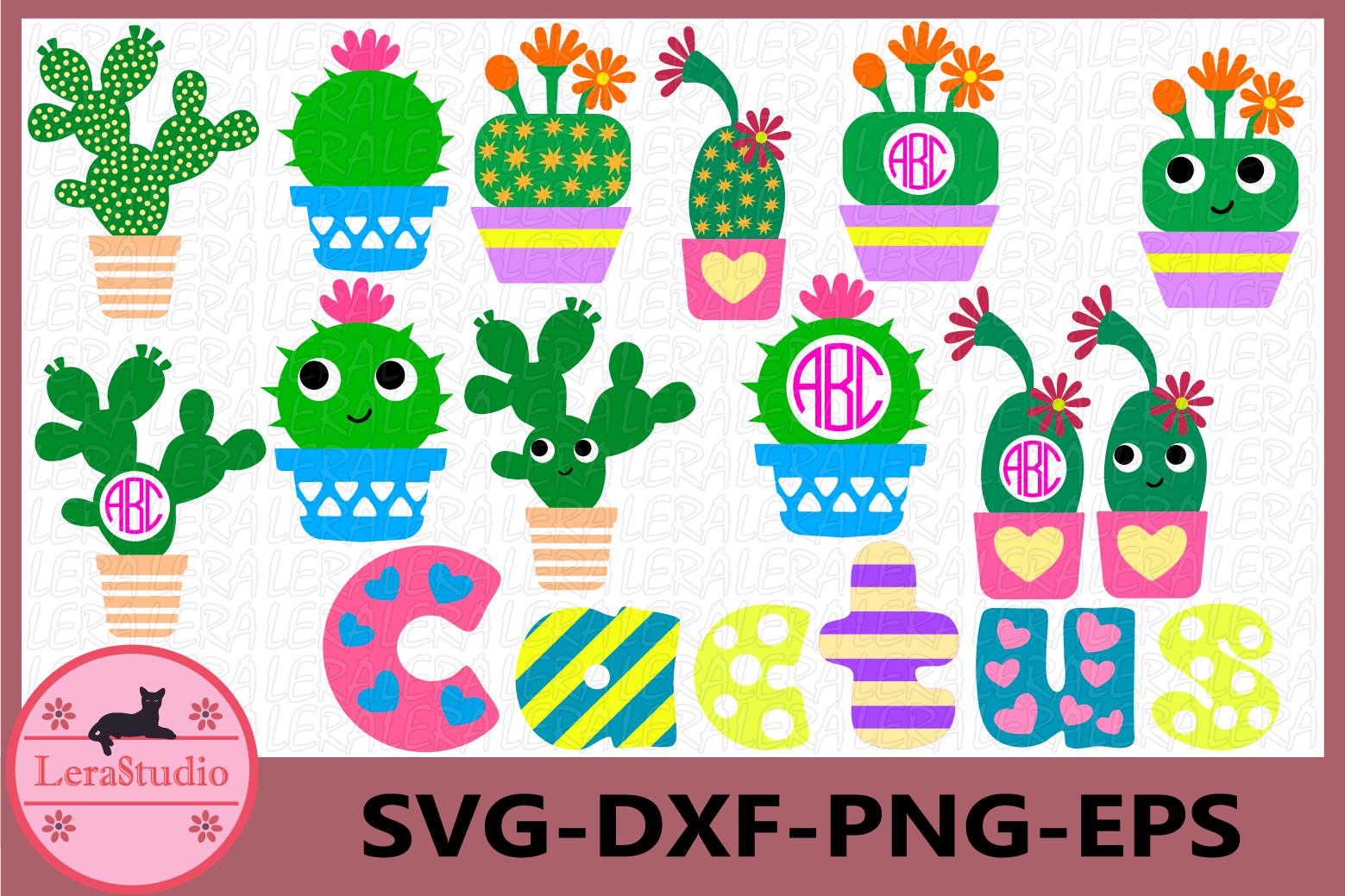 Cactus clip art, Cactus SVG, Digital Cutting Files, Summer example image 1