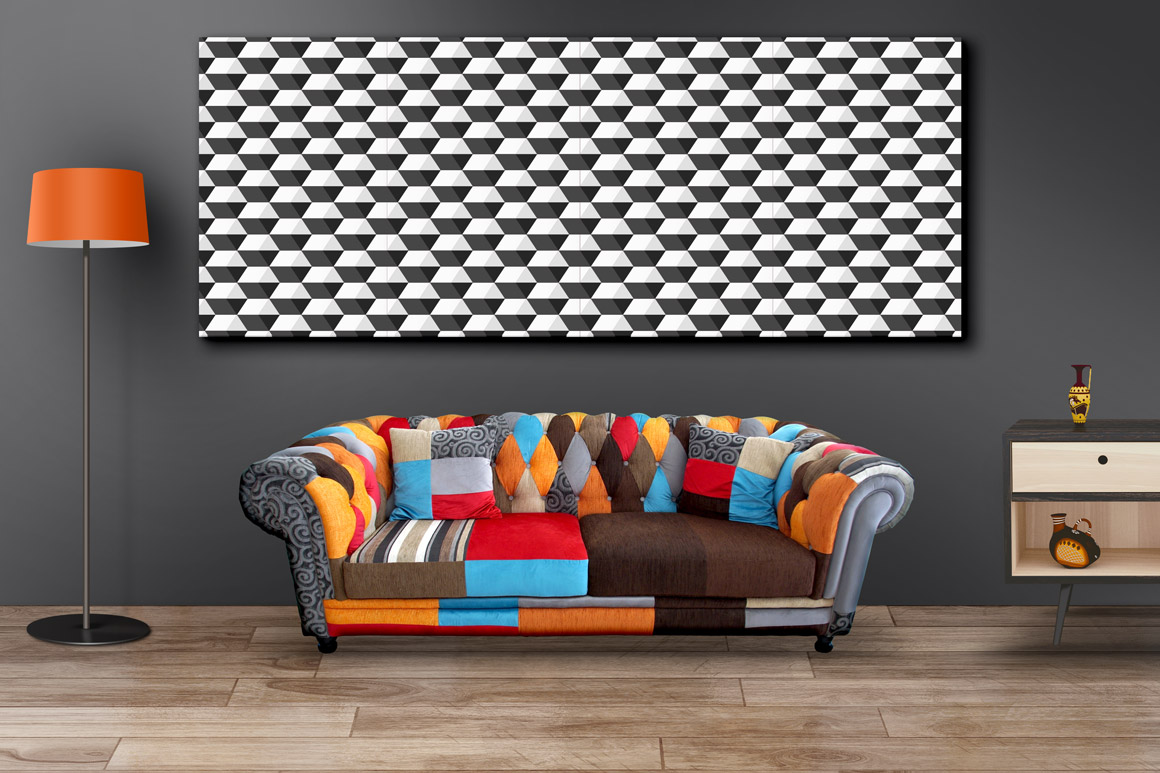 Geometric seamless modern patterns. example image 4