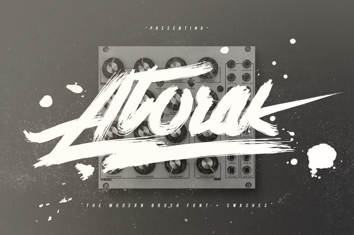 Atorak Typeface example image 1