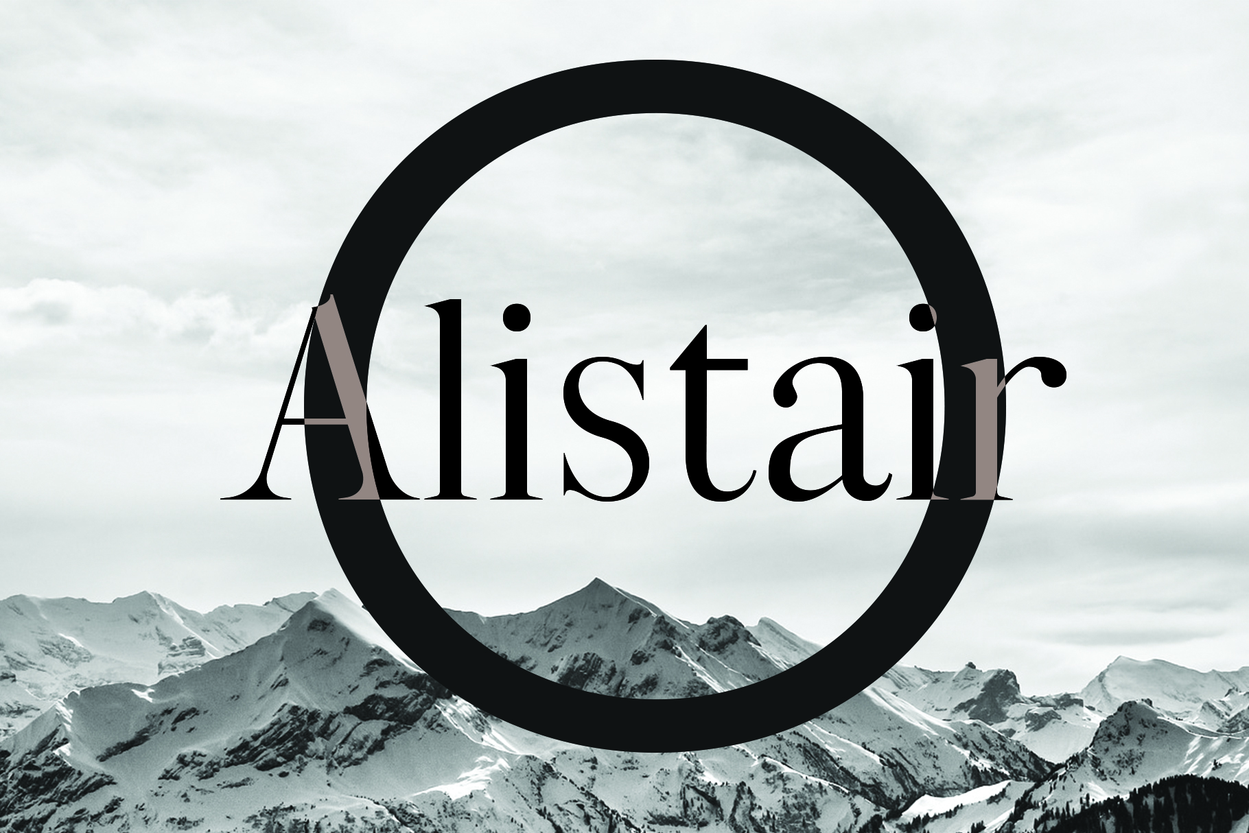ALISTAIR FONT, A modern Serif example image 2