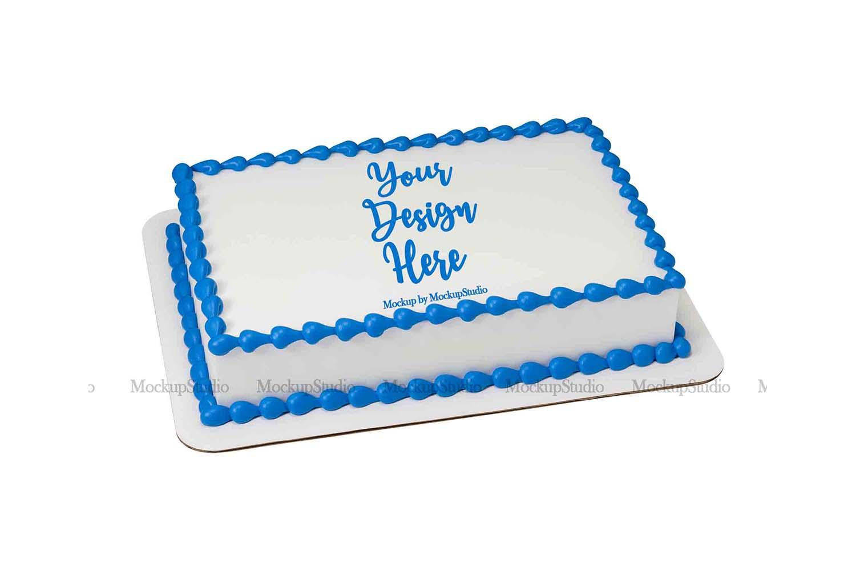Sheet Cake Mockup Bundle, Edible Cake Print Mock Up Display example image 2