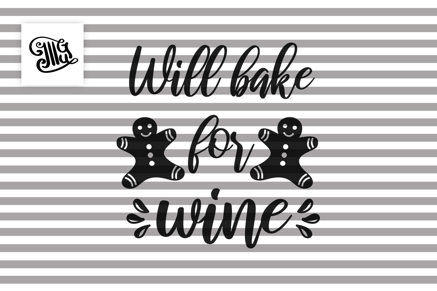 Will bake for wine - Christmas wine example image 2