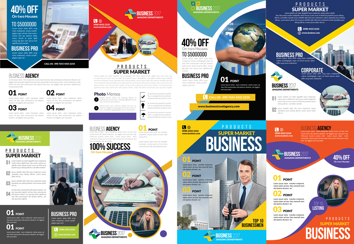 50 Business Flyers pack example image 2