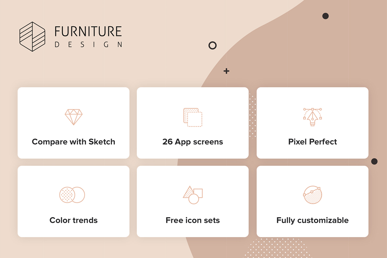 Furniture Design UI Kit example image 2