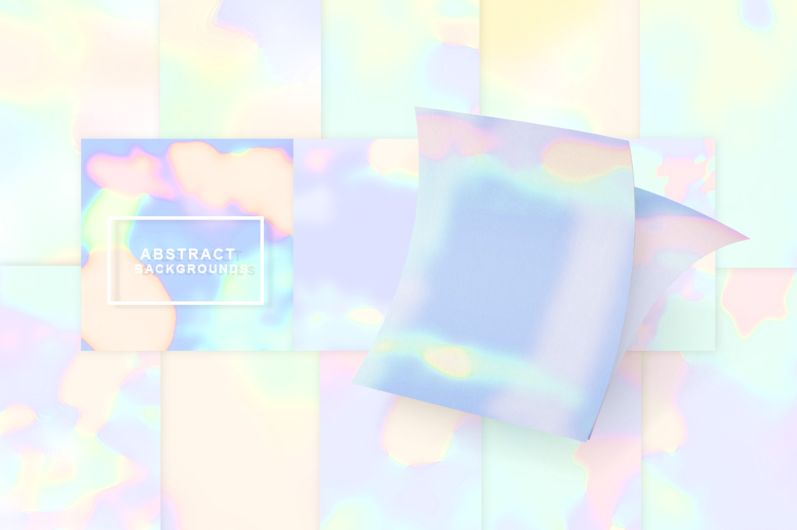 Holographic Textures. Abstract Backgrounds. example image 2