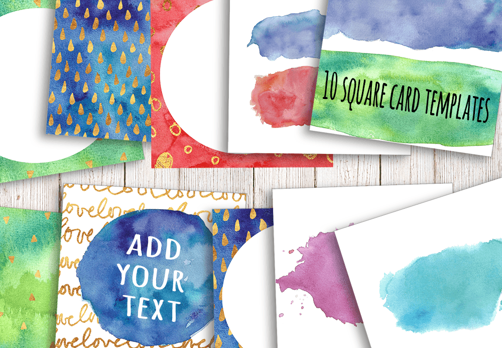 Watercolor Textures - card edition example image 5