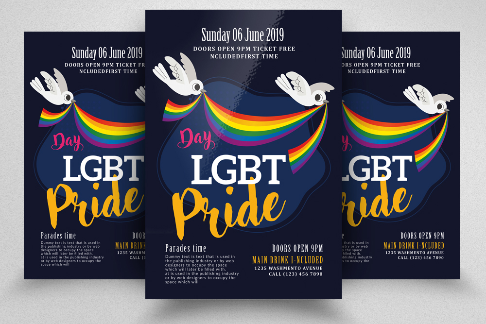 LGBT Pride Celebration Flyer example image 1