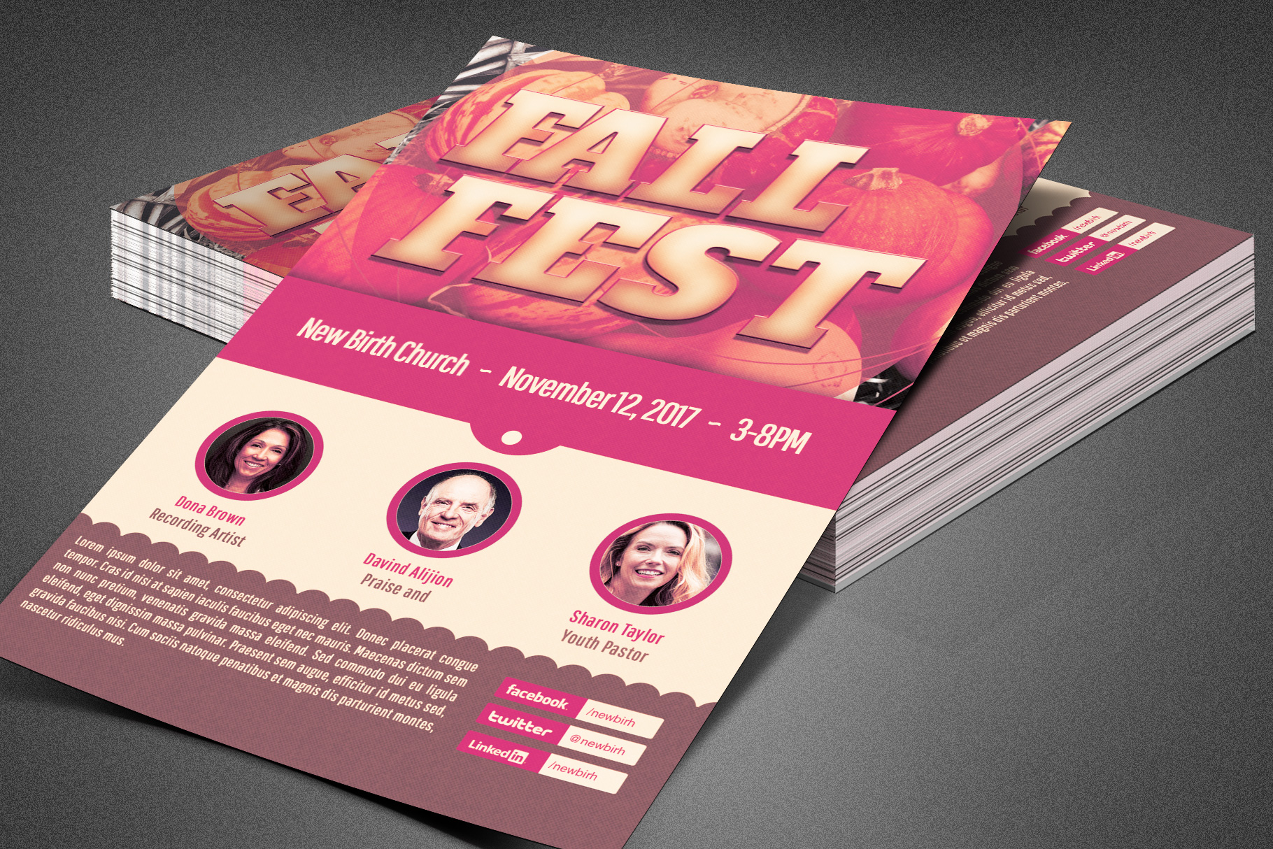 Fall Fest Church Flyer Template example image 5