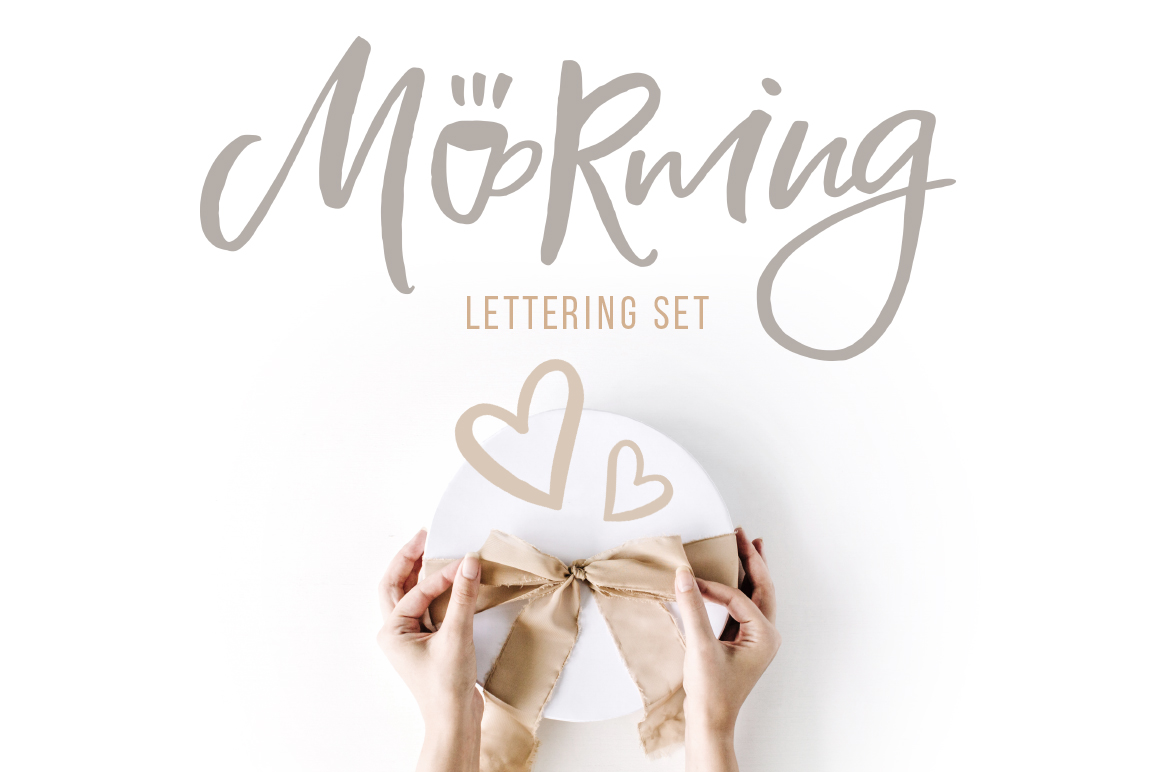 Morning Lettering set example image 1