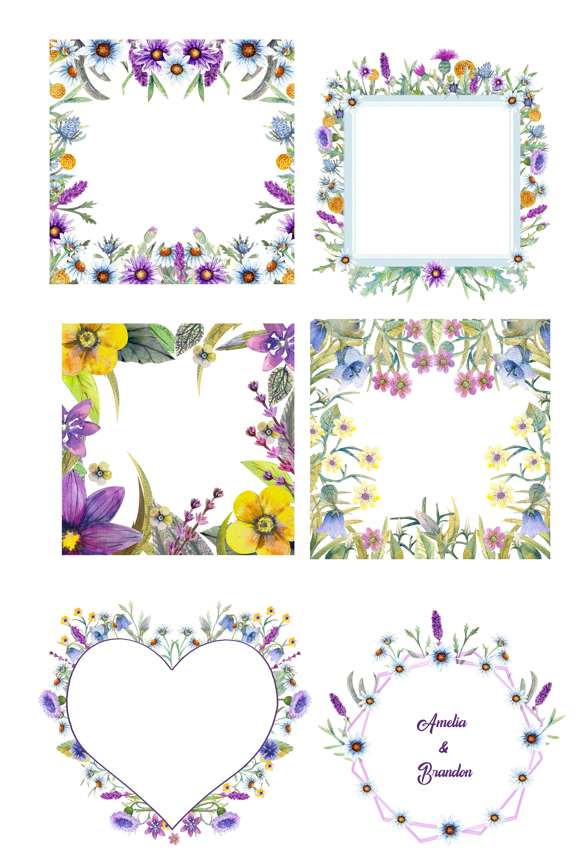 Wild flowers watercolor example image 4