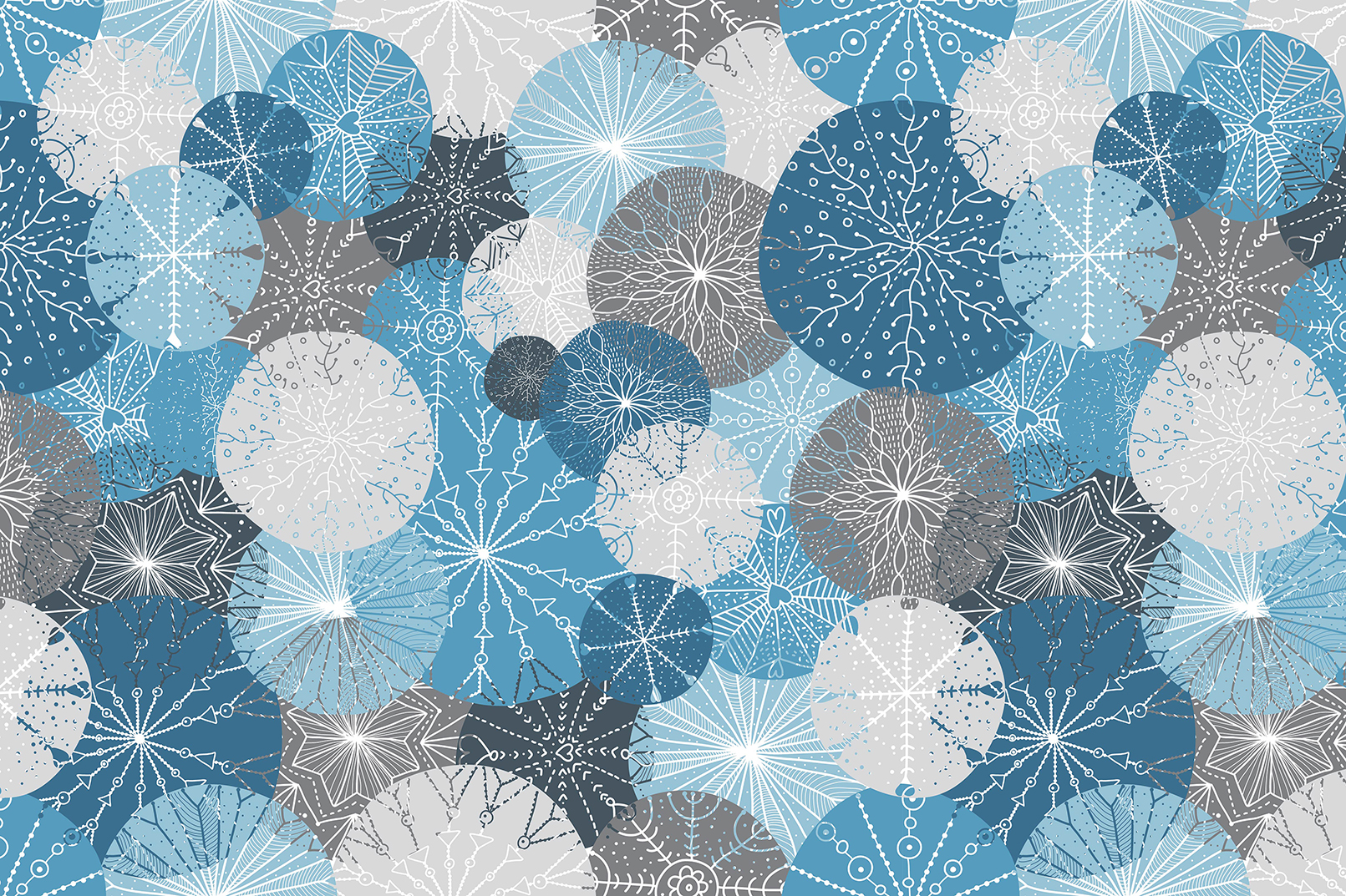 Snowflakes.Winter pattern. example image 3
