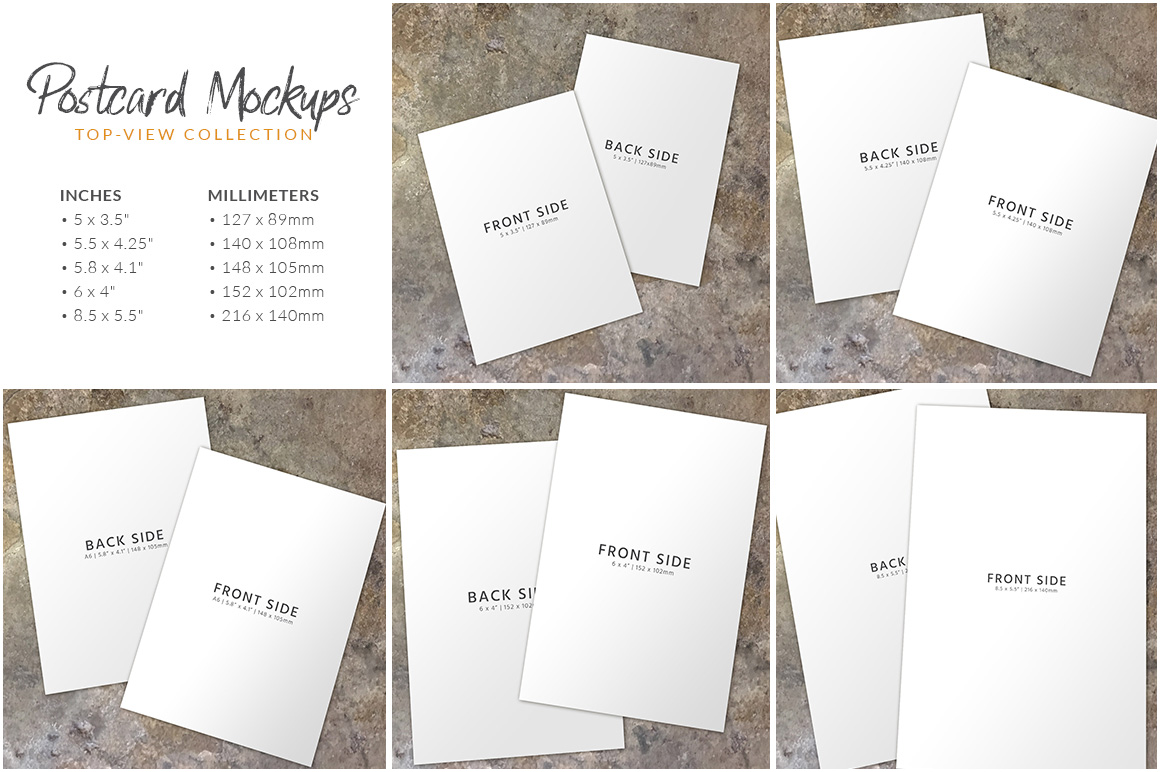 Postcard Mockup Bundle example image 5