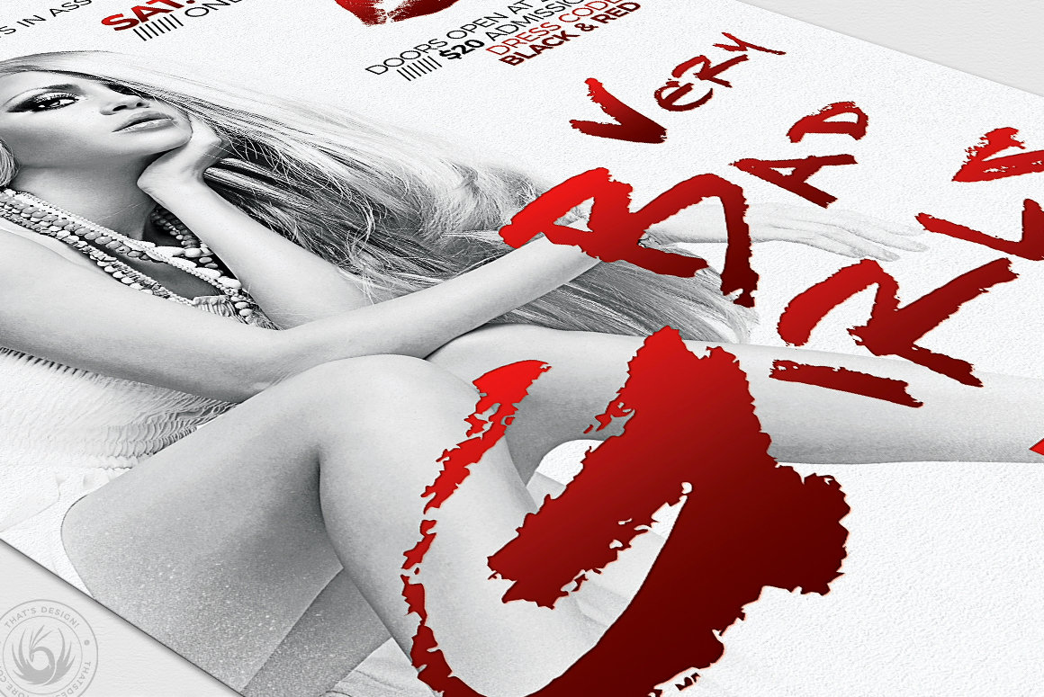 Bad Girls Flyer Template example image 6