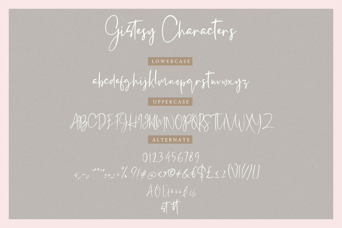 Gistesy Signature Collection example image 7