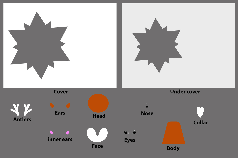 Christmas Star Paper Cut - Deer example image 3