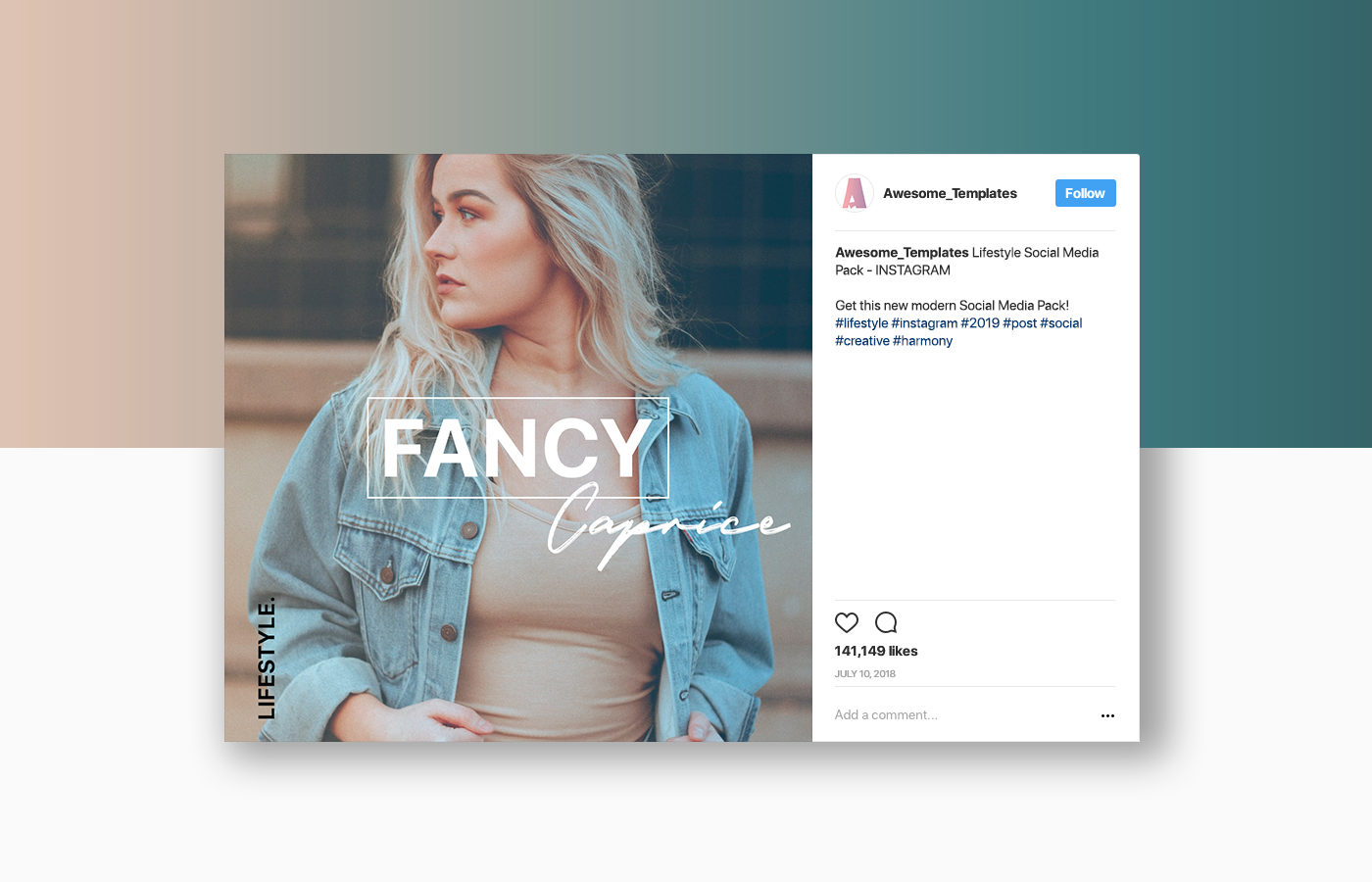 Lifestyle Instagram Template Set example image 8