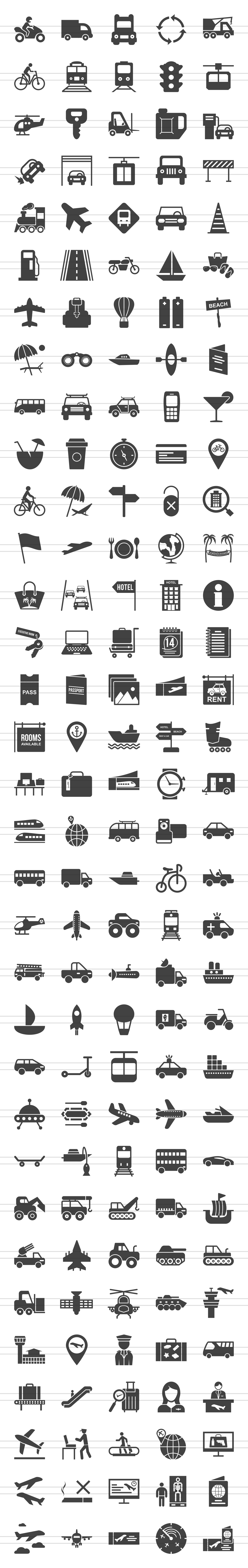 166 Transport Glyph Icons example image 2