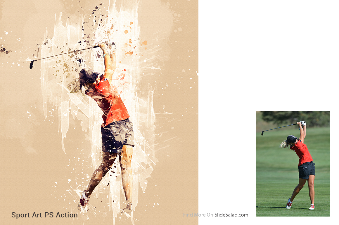 Sports Modern Art Photoshop Action example image 14