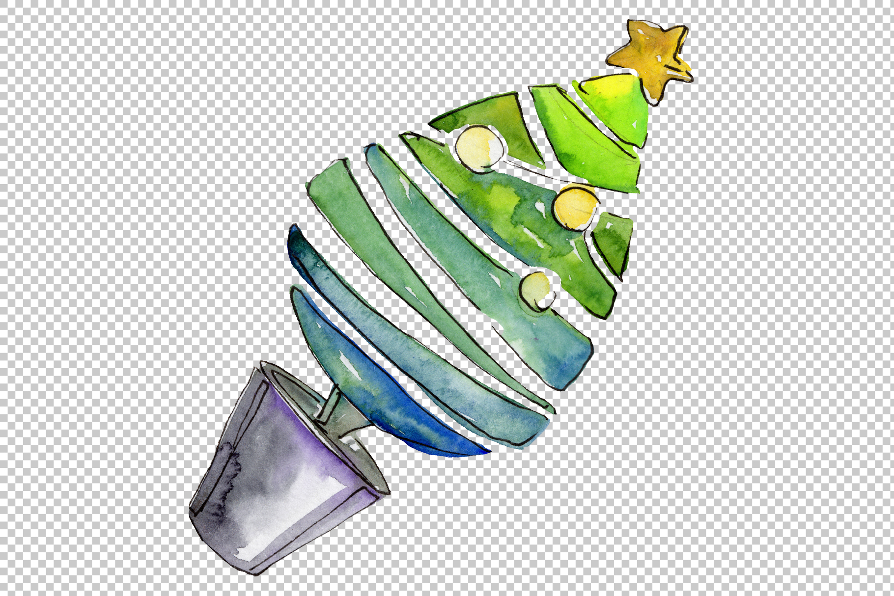 Christmas sweets watercolor png example image 7