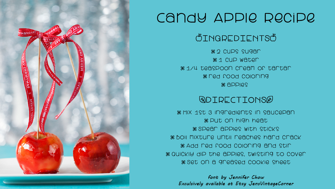 Candy Apple | A Cute and yummy font example image 4