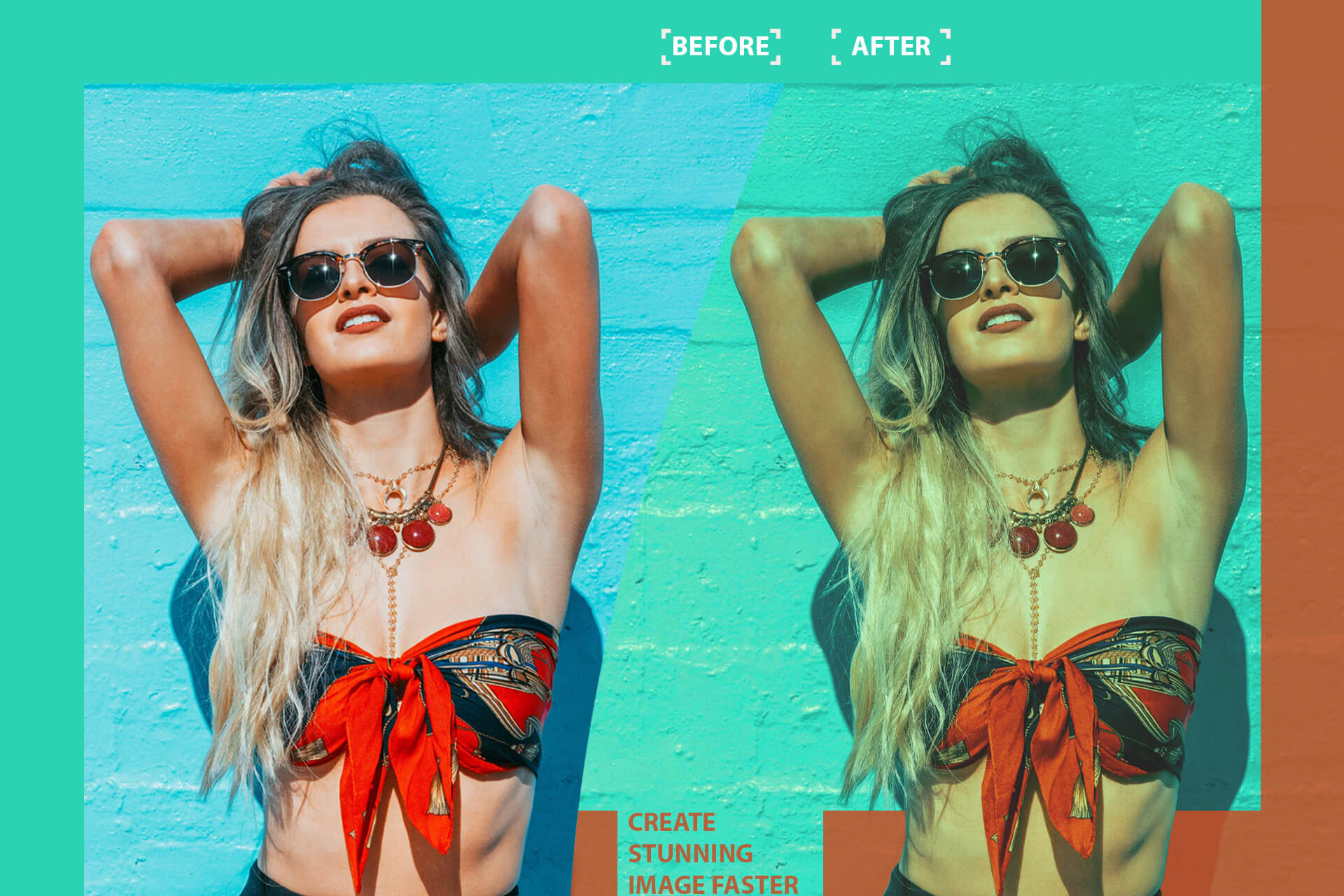 Cinematic Color Grading 01 Premium photoshop action example image 8