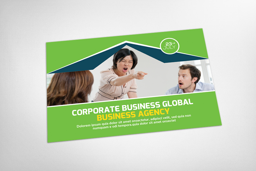 Global Business Postcard Template example image 3