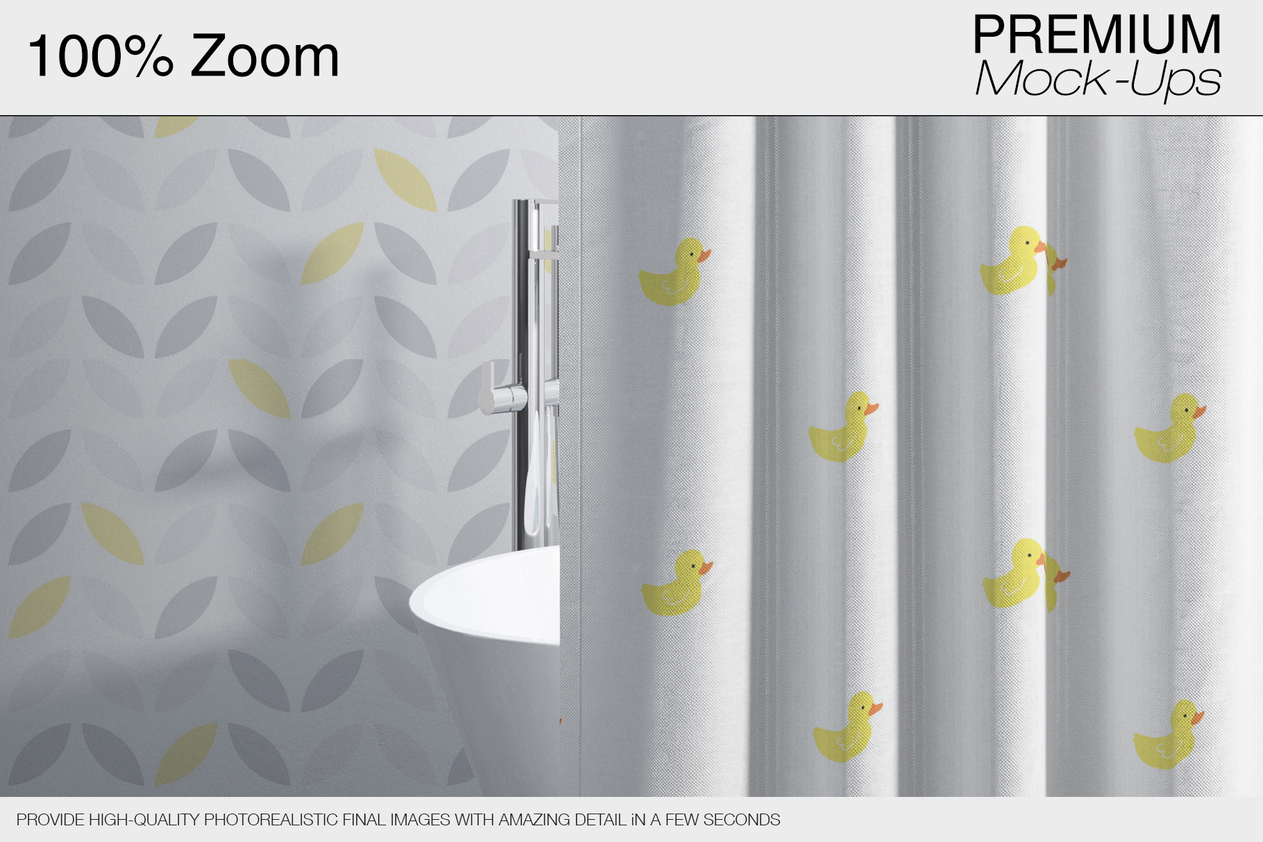 Bath Curtain Mockups example image 5