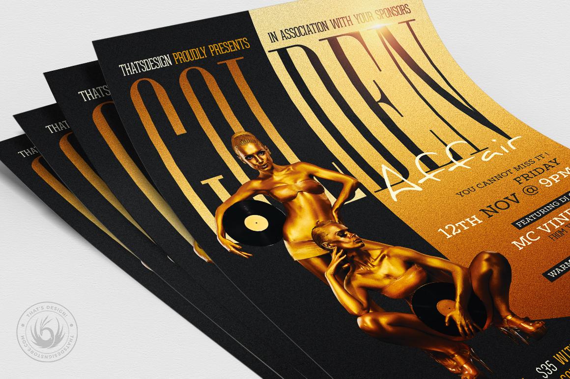Golden Affair Flyer Template example image 5