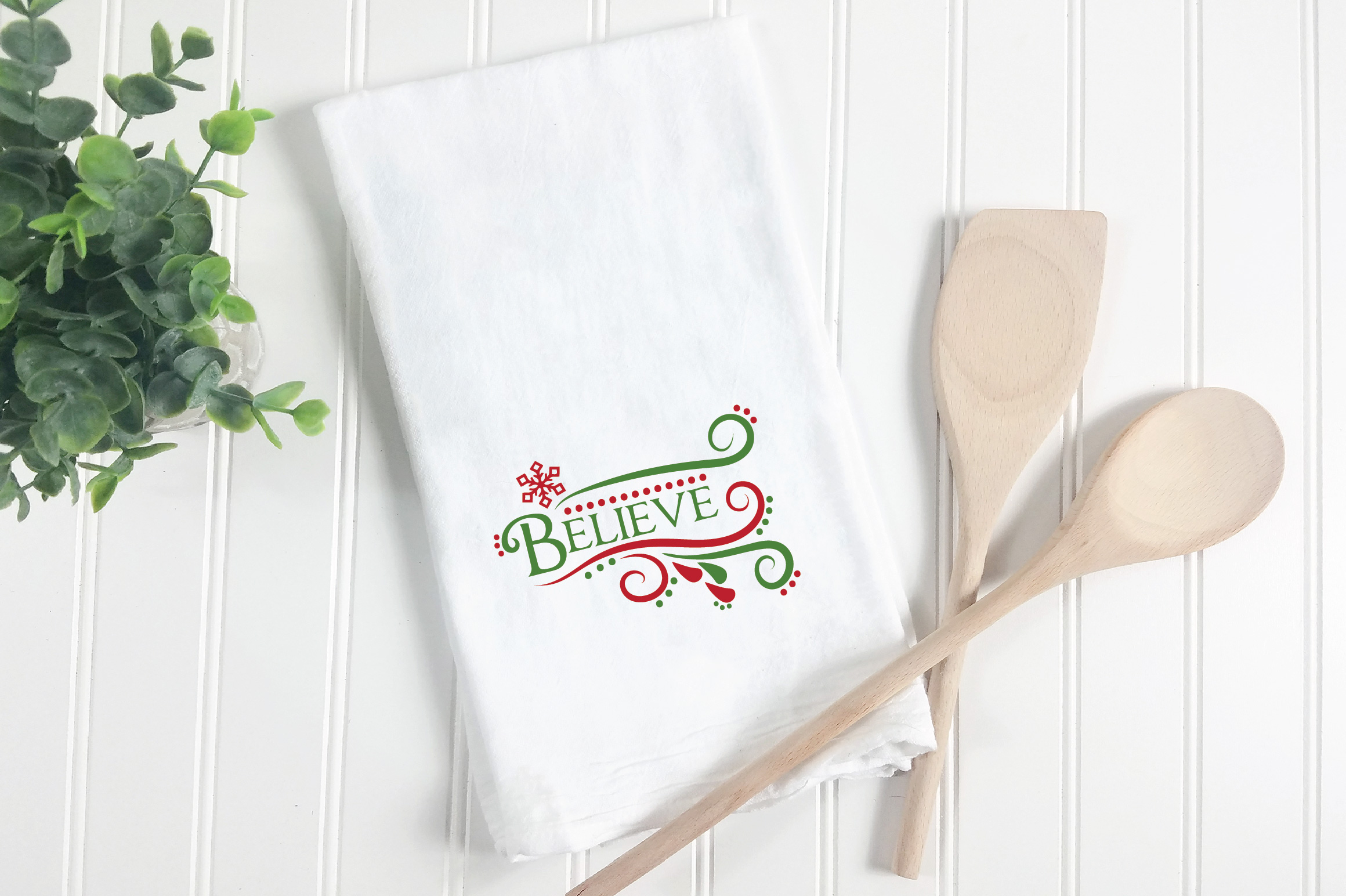 Believe SVG Cut File - Christmas SVG - DXF - PNG - EPS example image 3